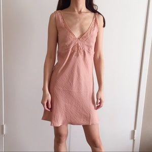 NWT Forever 21 petal rose pink slip style dress.